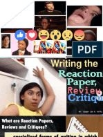 Writing the Reaction Paper-Review-Critique