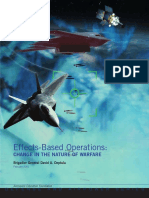 Effect Based Operations