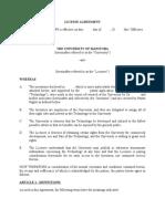 TTO License Agreement