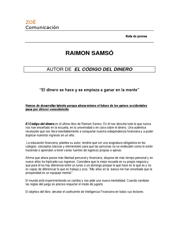 2 El Codigo Del Dinero De Raimon Samso Pdf
