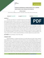 17. Training Effectiveness of Emotional Intelligence on Academic Adjustmentamong Post Graduate Students-2019-02!14!10-03
