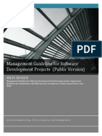 Management Guideline for Software Development Projects (Public Version)