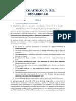 Psicopatología Del Desarrollo -t1