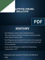 Philippine Israel Relation