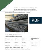 Rebar Steel bar detail for grade 1.docx