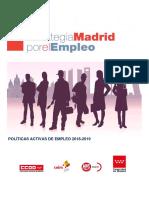 Prorroga Estrategia Madrid Por El Empleo Documento Final 10sep18