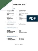Curriculum Alvaro