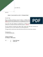 Demob. Letter