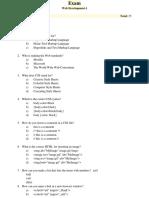Exam WebDevelopment 1