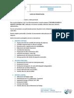 modelo de carta de presentación