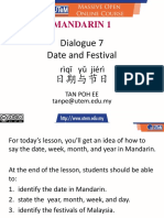 Dialogue 7 Date and Festival