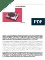 Technics SL-QX300 Turntable Review Price Specs - Hi-Fi Classic