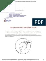Travaux Dirigés Et Exercices Imposés - Etude Élémentaire d'Une Turbine Radiale