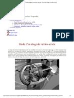 Travaux Dirigés Et Exercices Imposés - Etude d'Un Étage de Turbine Axiale