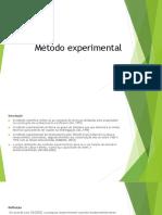 Apresentação Método Experimental