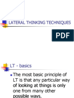 4lateral Thinking Techniques