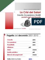 IRES Cgil - Slide - Salari in Italia - 2000-2010