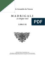 Gesualdo Madrigali libro III