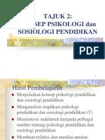 TAJUK 2 Konsep Sosiologi Psikologi Pendidikan