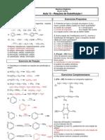 Química Orgânica - CASD - Aula13 Reações de Substituição I Respostas