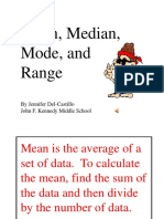 Mean, Median, And Mode PowerPoint