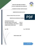 Reporte de Instalacion de SQL SERVER 2017 XPRESS