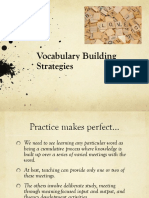 Vocabulary Building Strategies