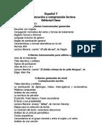 Índice a Los Libros Español Clase