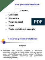 Curs 2 Testarea Ipotezelor Statistice