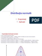 Distribuţia normală