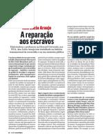 """Entrevista a Ana Lúcia Araújo - """"A reparação aos escravos"""""""