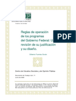Reglas de Operacion de Los Programas Federales CESOP