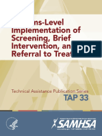 System Level Implementation of SBIRT- TAP 33