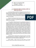 Puntos de la Constitución con Relación al Proceso Penal