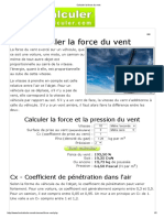 Calculer La Force Du Vent
