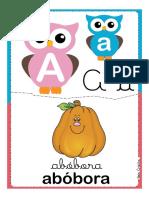 Alfabeto Corujinhas Letra a l