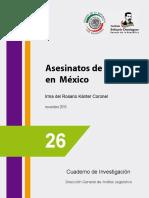 Daniel Avila Ruiz Asesinatos de Mujeres en Mexico Instituto Belisario Dominguez
