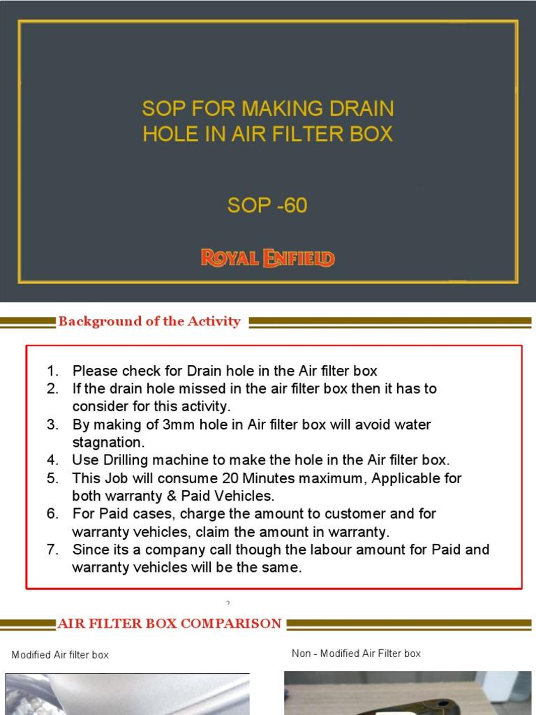 SOP 60 _ - Air Filter Drain Hole Process