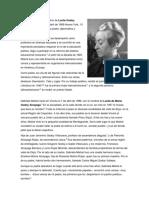 biografia corta Gabriela Mistral