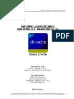 Informe Luminotecnico Chilectra Matucana 39
