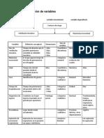 OPERACIONALIZACION DE MULTIPLES VARIABLES