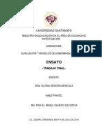 EVALUACIÓN Y MODELOS DE ENSEÑANZA APRENDIZAJE