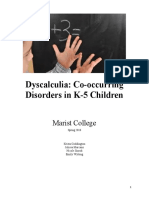 dyscalculia co-occurring disorders in k-5 children