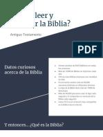 Cómo Leer y Estudiar La Biblia