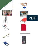 Imagenes de objetos de la escuela