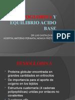 Hemoglobin A y Equilibrio Acido Base
