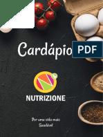 Cardápio - Nutrizione