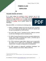 1 Clase Generalidades Hidrologia