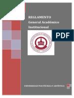 UPAP - REGLAMENTO General Académico Institucional