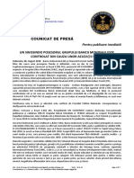 2018-8-8 ROMANIAN PRESS RELEASE - UN SWISSINDO OWNER OF WORLD BANK GROUP INVESTIGATED ON FALSE CHARGES!